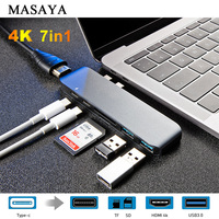 card reader USB C Type-C HUB to 4K HDMI Adapter with Thunderbolt 3 /USB 3.0 /TF SD Card Reader Slot Support PD Charging for MacBook Pro 2017 (1)