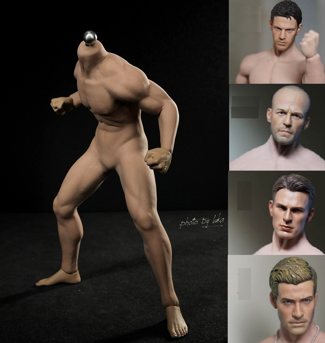 PHICEN PL2015 M30 1/6 Muscle Super Flexible Seamless Steel Male sketch Body for 12 HT DAM Collectible