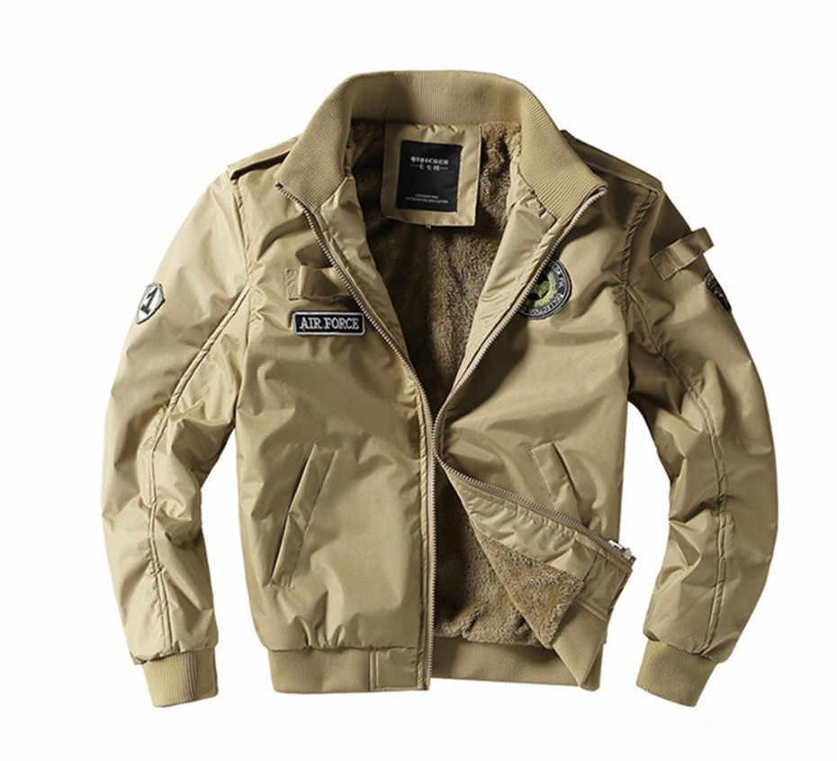 Không Quân 2018 Áo Khoác Bomber Quân Sự Nam Làm Dày Lông Cừu cho Mùa Đông Dropshipping Nhà Cung Cấp USA YC1065