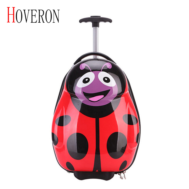 HOVERON 2019 New Anime Girl Luggage Child Rolling Suitcase Cartoon 16 Inch Students Travel Trolley Case Children Boarding Box