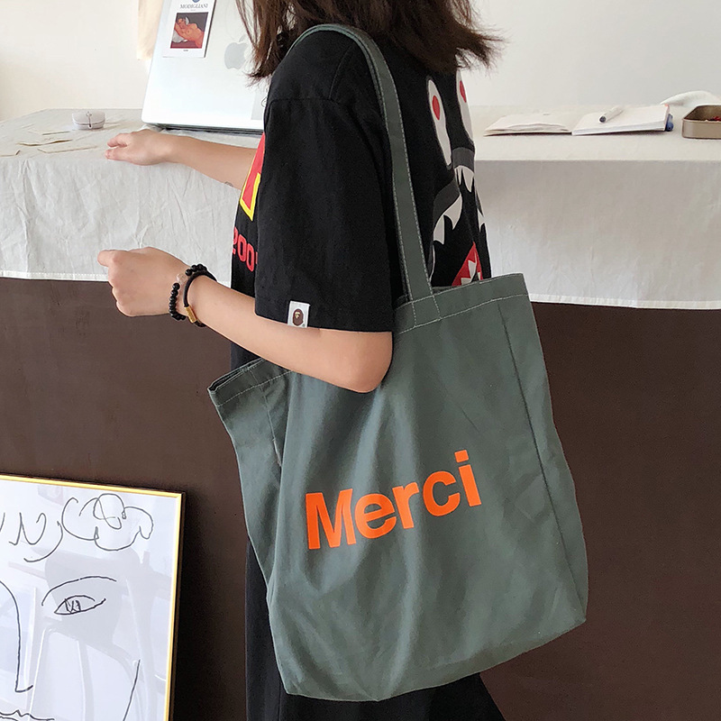 Women Shoulder Bags 2019 Brand New Fashion Tote Bags Canvas Students Shopping Bags Totes Portable Letters Female Handbags