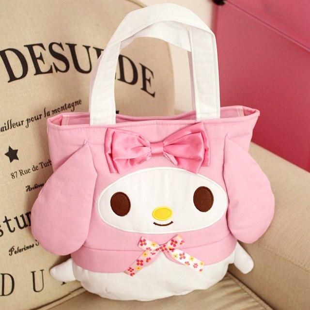 New My Melody Hello Kitty Pudding Dog Women Canvas Bag Anime Toys Cartoon  Plush Handbag Children Shoulder Bag Girls Shopping Bag 4da7570a9706f