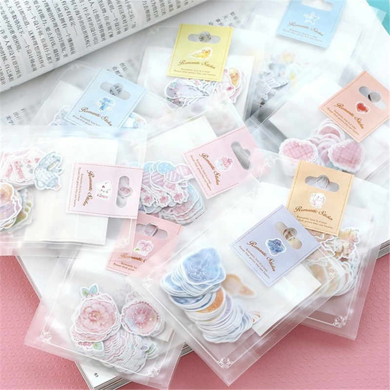70 PCS/lot Japan Mini Paper Sticker Bag DIY Diary Planner Decoration Sticker Album Scrapbooking Kawaii Stationery Album Sticker