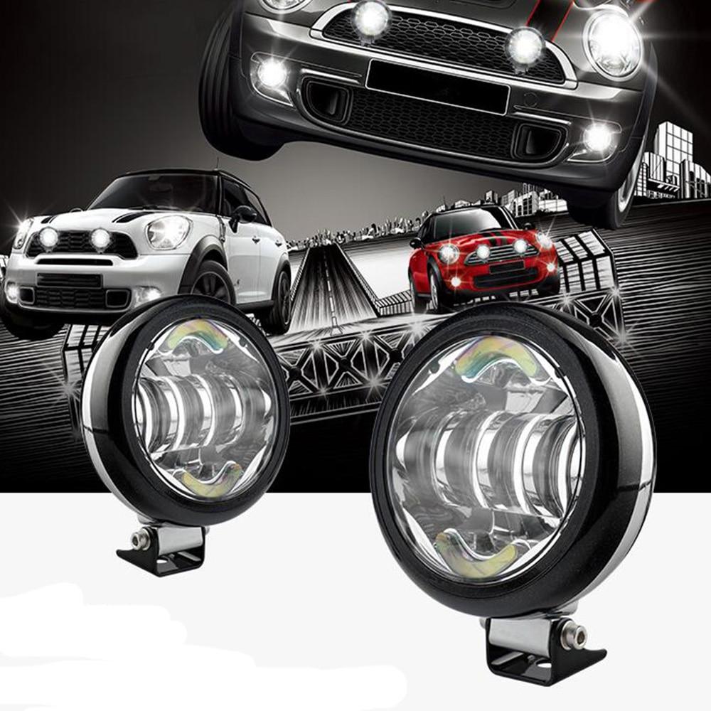 Universal 2Pcs/set Car Led Daytime Rally Light Auto Parts 3200LM Car Round Headlight For Bmw Mini Cooper JCW Clubman Countryman tyrant mini r c rally car