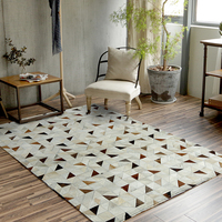 New European Style Luxurious Grand Carpets Sitting Room Bedroom Tea Table Carpet Hand Stitched Rug Cowhide Carpets