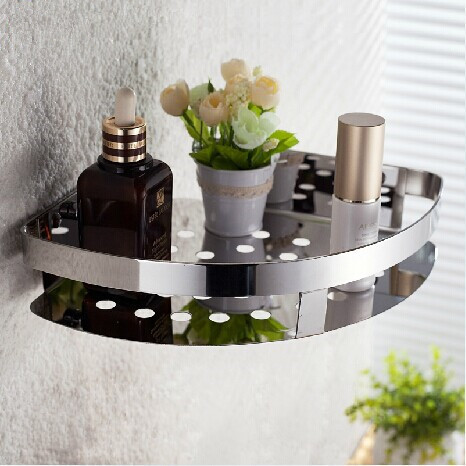 где купить  Single tier stainless steel triangle shelf bathroom shower shelf stainless conner bathroom mug shelf mug bathroom accessories  по лучшей цене