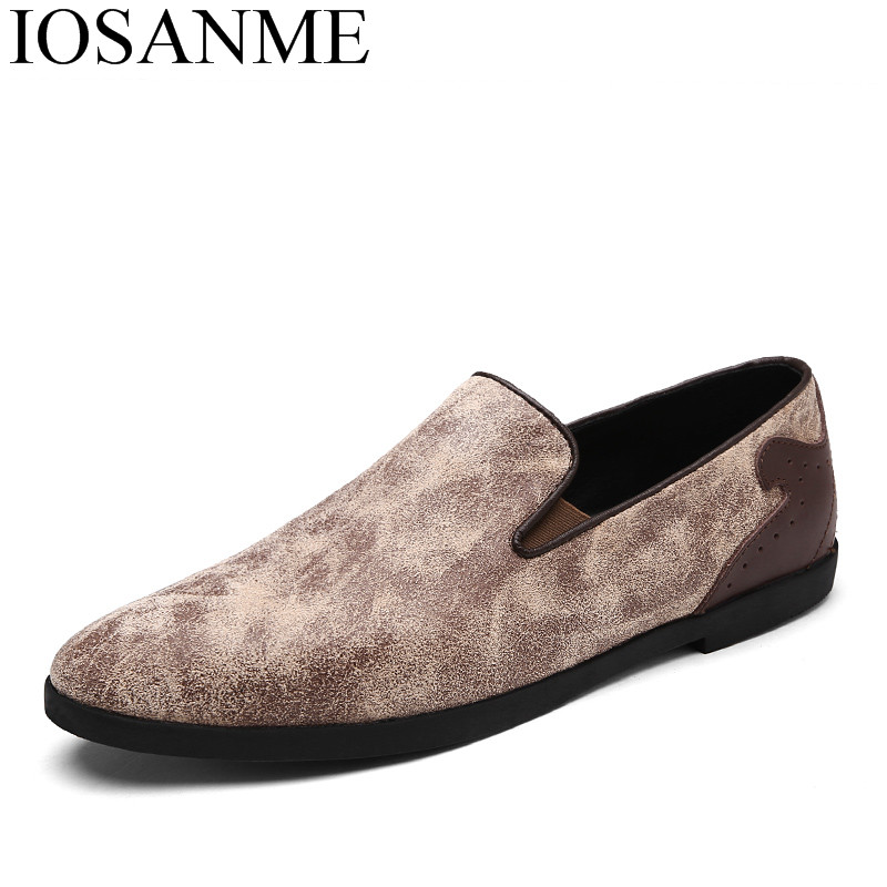 241092850dba Mocassins Mode Conduite Casual Hommes Chaussures Loisirs Marque 2018 Pour  gris Ballerines kaki Homme Oxford Marron Le Printemps Glissement Sur Cuir  ...