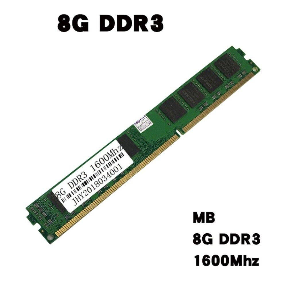 DDR3 8 GB 1600 MHz pour ordinateur portable PC portable PC3-12800 mémoire RAM DIMM Support pour intel pour AMD