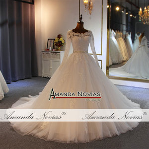 Image 3 - 2020 Ball gown wedding dress high quality with cheap price with long sleeves