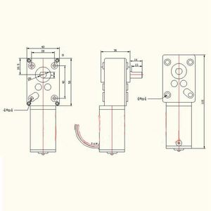Image 5 - WSFS sıcak DC yüksek tork turbo sonsuz dişli kutusu mikro motor sağ açı dişli motor DC 12V 470 RPM/ 260 RPM/160 RPM/80 RPM