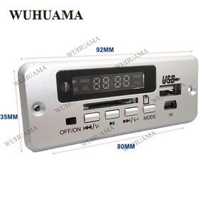Image 2 - DC5V الرقمية بلوتوث MP3 فك مجلس مع 2*3 W مكبر للصوت قابلة للشحن SD FM راديو البسيطة USB Aux في سيارة DIY وحدة صوت