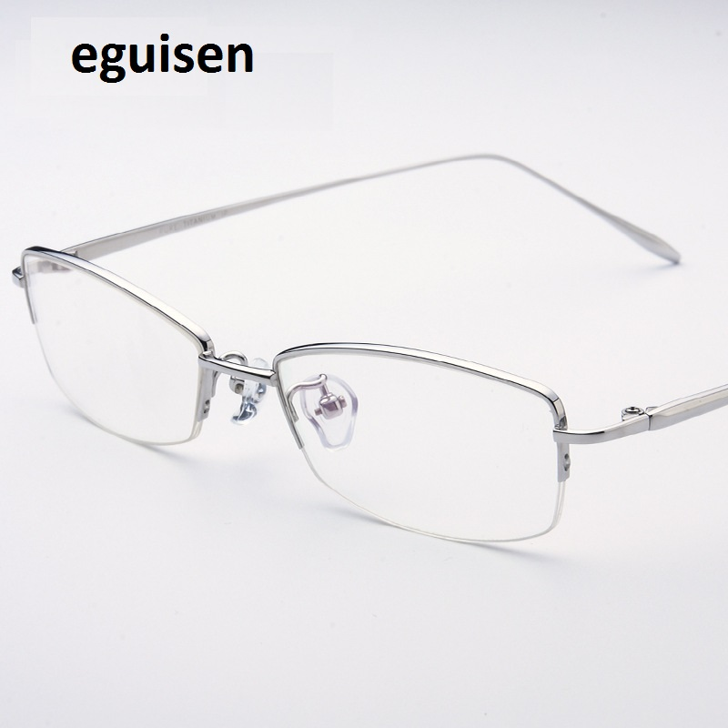 8c9425ba3b0 52 17 138 Ultra light titanium half frame glasses frame of female white  collar business with glasses 6002 free shipping-in Eyewear Frames from  Women s ...