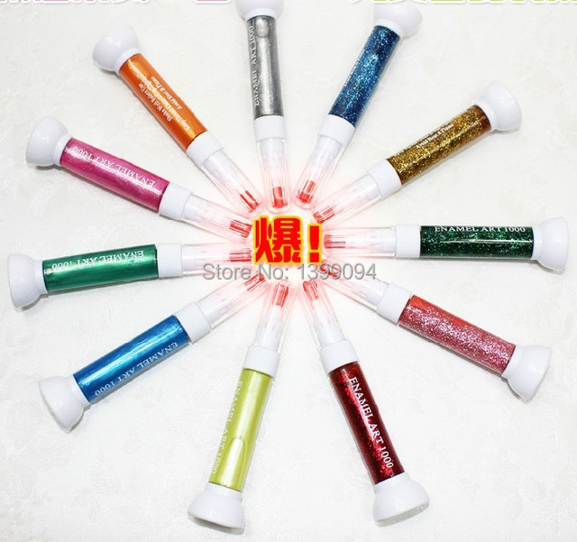 24 colorss nail art product dotting tool little flower pen pin 24 colorss nail art product dotting tool little flower pen pin brush dual drawing pen enamel prinsesfo Images