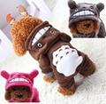 2015 Nova Velo Pet Cat Dog Costume Quente Cães Roupas de Inverno Casaco de moletom com capuz Bonito Macacão Quatro Roupas Perna para Pet Adidog adias