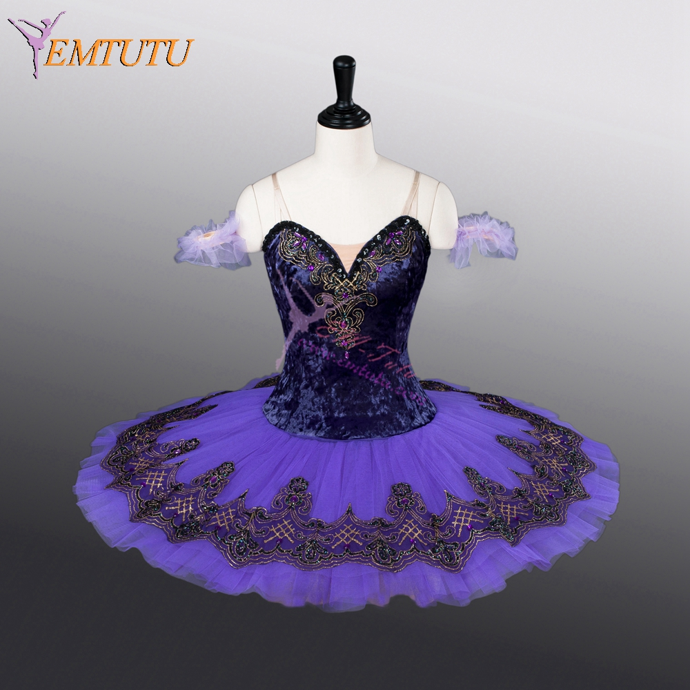 adult purple professional ballet tutu pancake classical performance stage competition ballet tutus ballerina stage costumes