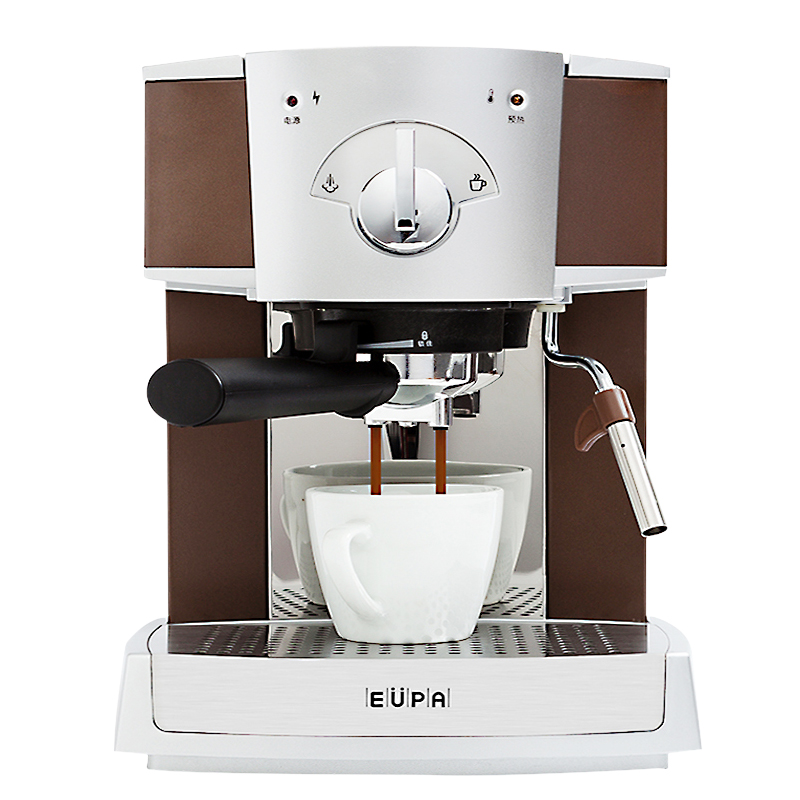 220V 15Bar Semi Automatic Espresso Coffee Maker Steam Milk Foam Coffee Machine Stainless Steel Froth Milk with 1.6L Tank professional ce stainless steel electric espresso coffee maker semi automatic 5 10 cups italian coffee machine with milk frother