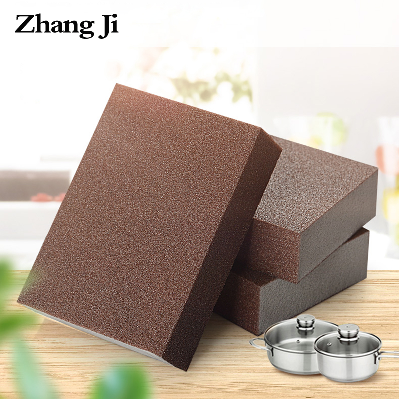 ZhangJi Strong Carborundum Brush Wipe Decontamination Rust Removal Pan Pot Knife Magic Sponge Cleaner Emery Sponge Kitchen Tool