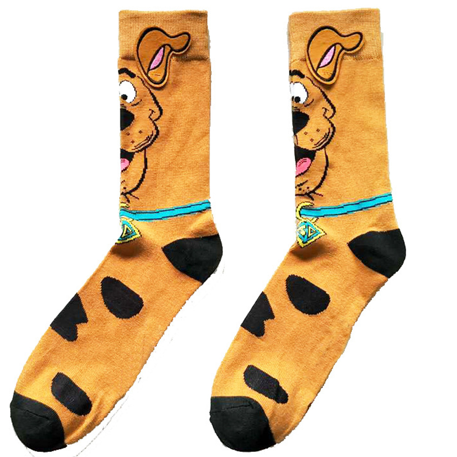 Cartoon Pluto Dog Printing Socks Anime Cosplay Cute Personality Breathable Animal Novelty Funny Yellow Ear Man Casual Calcetines
