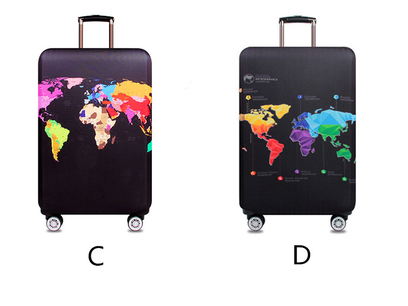 Thicker Travel Luggage Protective Cover Suitcase Case Travel Accessories Elastic Luggage Dust Cover Apply to 18''-32'' Suitcase 7