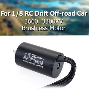 3660 Brushless Motor 2600KV 3300KV Sensorless Waterproof 4 Pole 3.175mm For 1/8 RC Drift Racing Off-road Car Truck(China)