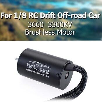 цена на 3660 Brushless Motor 2600KV 3300KV Sensorless Waterproof 4 Pole 3.175mm For 1/8 RC Drift Racing Off-road Car Truck