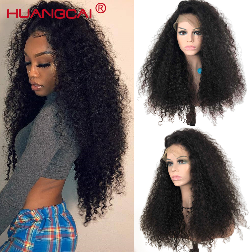 Kinky Curly 360 Lace Frontal Remy Brazilian Wig For Women Lace Frontal Human Hair Wigs Pre Plucked 180% Density Kinky Human Wigs