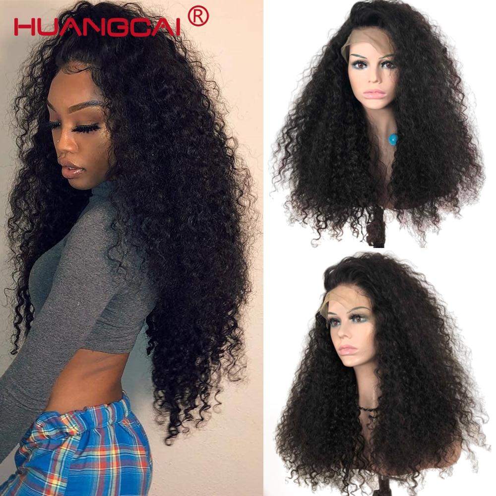 Kinky Curly 360 Remy Do Laço Frontal Peruca Para Mulheres Perucas de Cabelo Humano Do Laço Frontal Brasileiro Pré Arrancadas 180% Densidade Bizarro perucas humanos