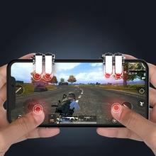 50 par W6 novo conceito de seis-dedo ligação para L1 R1 PUBG Jogo Botão de Fogo Gatilho de Jogos de telefone Móvel botão Controlador de atirador