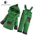 2PCS Winter Children Clothing Jacket For Girls Boys Overalls Baby Clothing Sets Parkas Duck Down Coat Pants Hooded Outerwear