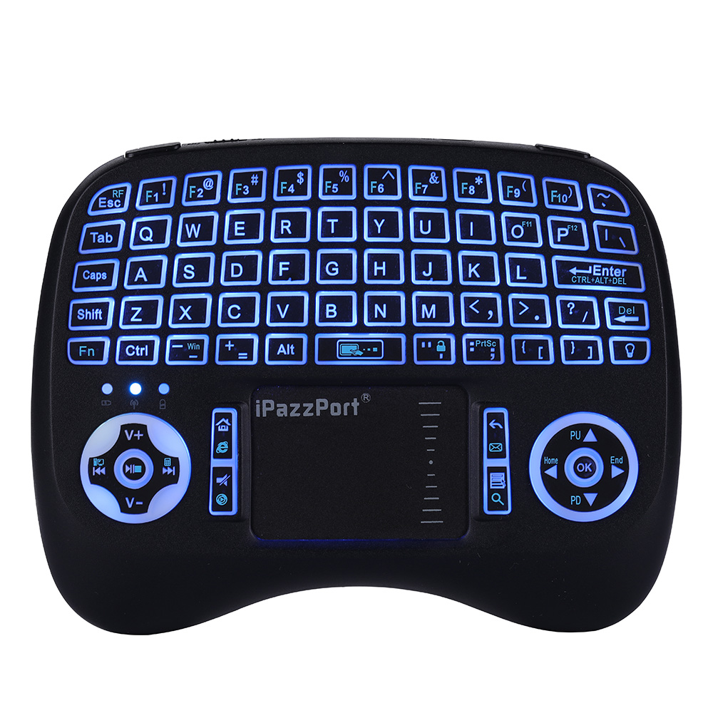 iPazzPort KP-21T Wireless Mini Keyboard Backlight Function with Touchpad English / Russian Version for AndroD TV BOX / Smart TV