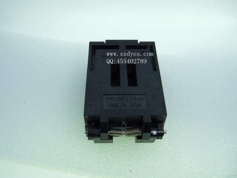 ФОТО IC test socket FPQ-100-0.65-24 TQFP100 seat QFP100 test imported- FREESHIPPING