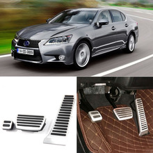 Brand New 3pcs Aluminium Non Slip Foot Rest Fuel Gas Brake Pedal Cover For Lexus GS 2012-2016