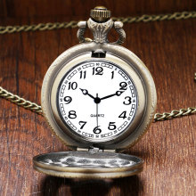 Naruto Theme Bronze Quartz Pendant Pocket Watch