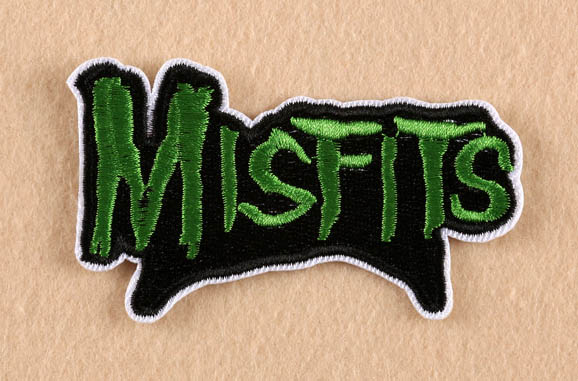 Misfits band logo embroidered patch of stickers applique tv drama children diy clothing fabric accessories
