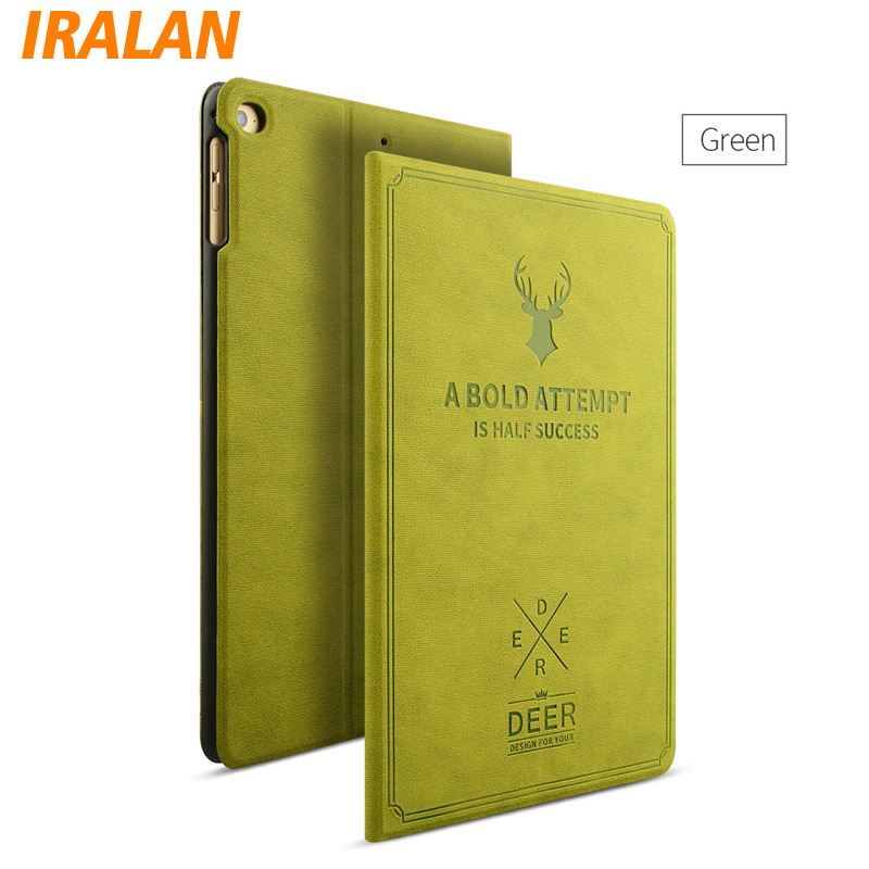 2017 New PU Leather Retro deer map Case Flip Leather Case For Apple iPad mini 1 2 3 7.9 Luxury Protective Cover + stylus + film