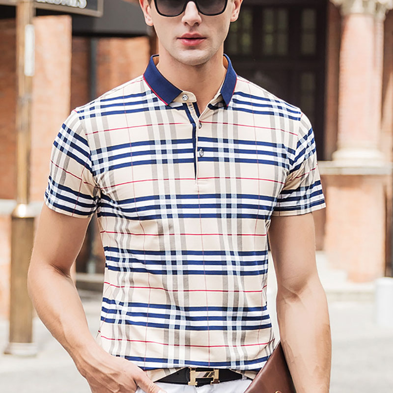Aliexpress.com  Buy New 2016 Summer Style Plaid Classic business men polo shirt Loose New Brand Mens Polo Shirt For Men Cotton Short Sleeve from Reliable shirt brazil suppliers on Mystery Costumes(11)
