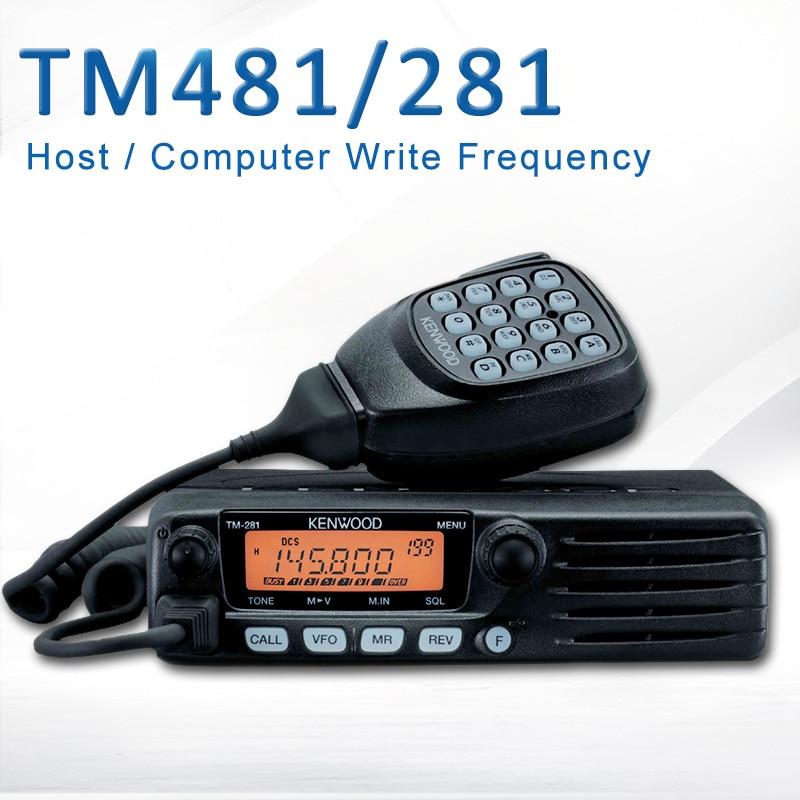 65W Base Radio TM481 OR TM281A 136-174 OR 400-470MHz Over 10KM Mobile Two Way Radio Car Radio Station Walkie Talkie