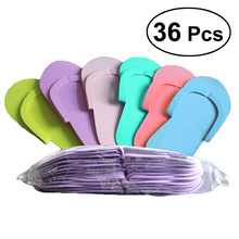 36 คู่ Disposable โฟมรองเท้าแตะคุณภาพสูงโฟม Pedicure Slippper สำหรับ Salon Spa Pedicure Flip Flop เครื่องมือสปาเท้ารองเท้าแตะ