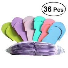 36 Paar Wegwerp Schuim Slippers Hoge Kwaliteit Foam Pedicure Slippper Voor Salon Spa Pedicure Flip Flop Gereedschap Spa Pedicure Sandalen