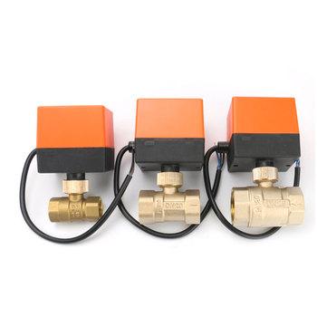 DN15 DN20 DN25 elektryczny zmotoryzowany mosiężny zawór kulowy AC 220V 2 Way 3-przewodowy 1 6Mpa z napędem do wody tanie i dobre opinie EBOWAN Kontrola BRASS