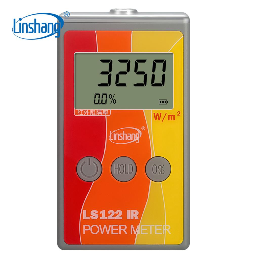 LS122 Linshang Handheld IR Power Meter Test Infrared Intensity Luminance With IR Rejection Heat Insulation Rate From 1000-1700nm