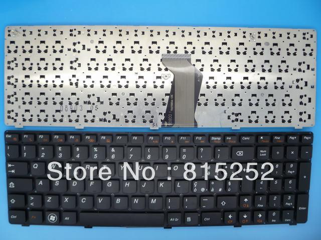 Laptop Keyboard Without frame For lenovo Z560 Z560A Z565 Z565A Z580 Z580A Z585 Black IT -Italian 25010791 25010821 HV1170A02K-IT