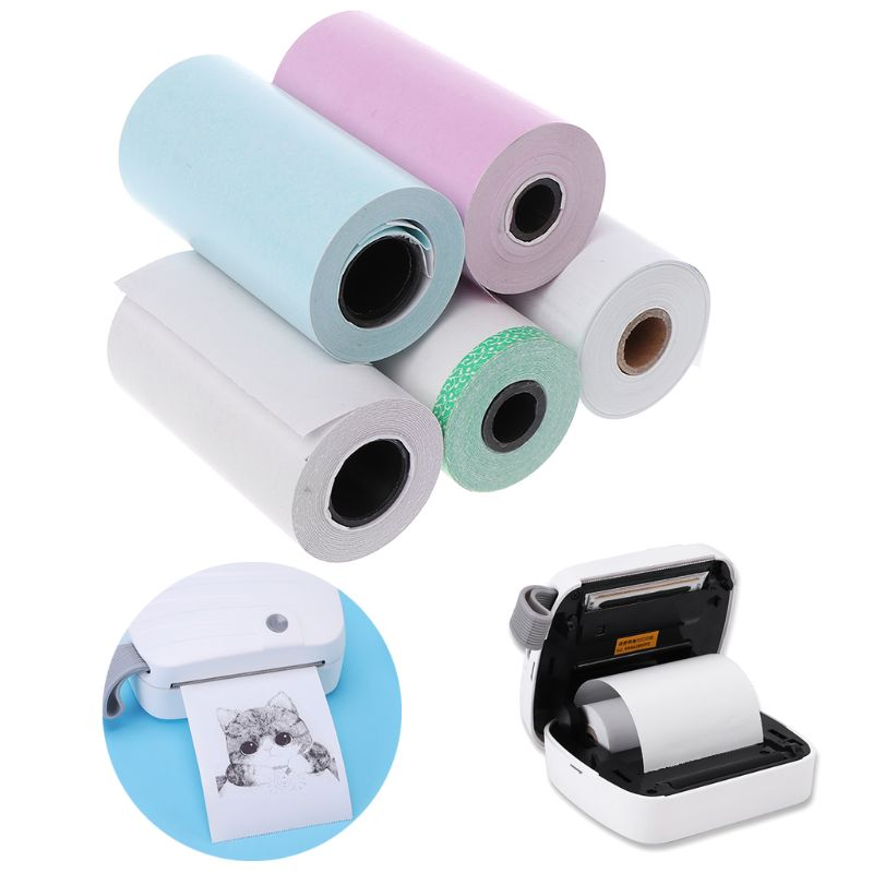 Photo Paper Mini Printable Sticker Roll Thermal Printers Clear Printing Smudge-Proof Portable