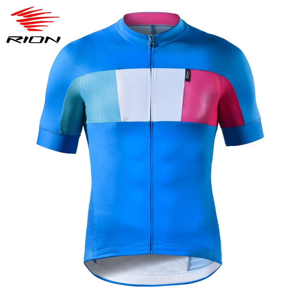 RION Men's Cycling Jersey 2020 Summer Short Sleeve Breathable Pro-Team Bicycle Cycling Shirt Downhill MTB Road Bike Jersey