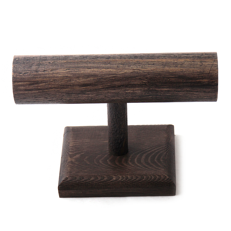 MOODPC Free Shipping Wood Display T-BAR Watch/Bracelet Jewelry Display Stand Holder,Fashion Jewelry Display body building sports cyling half finger gloves for women black red