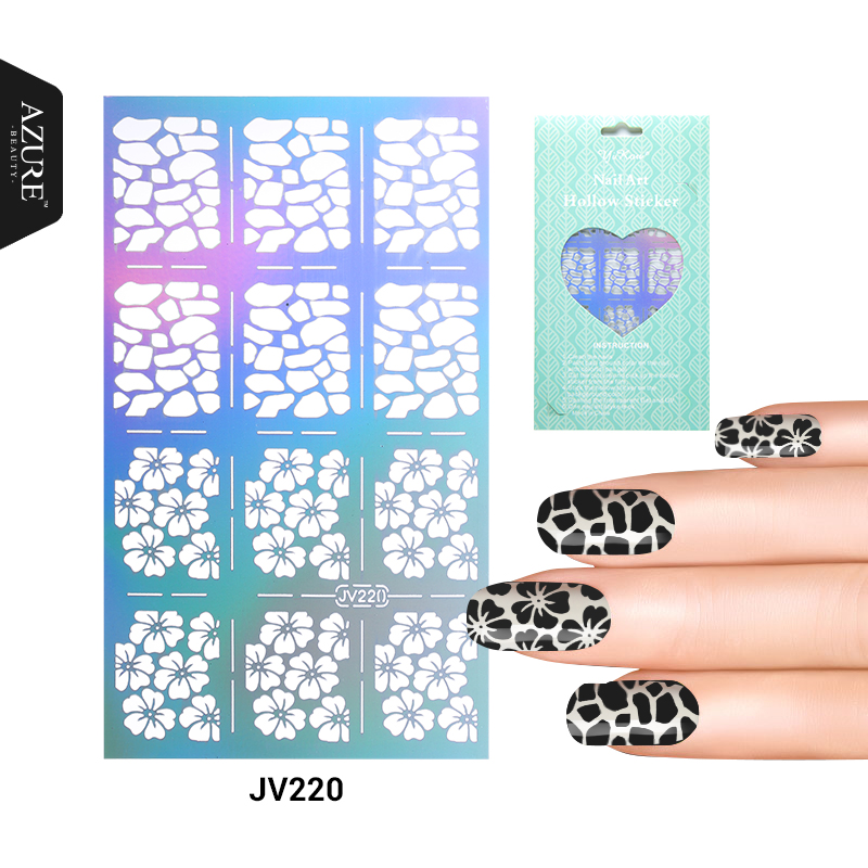 Multiple-Use Stamping Tool Nail Art Hollow Laser Silver Template Stencil Stickers Vinyls Image Guide Polish Manicure 20 Styles any hollow out nail template stickers laser star wheel triangle pattern nail sticker designs nail art