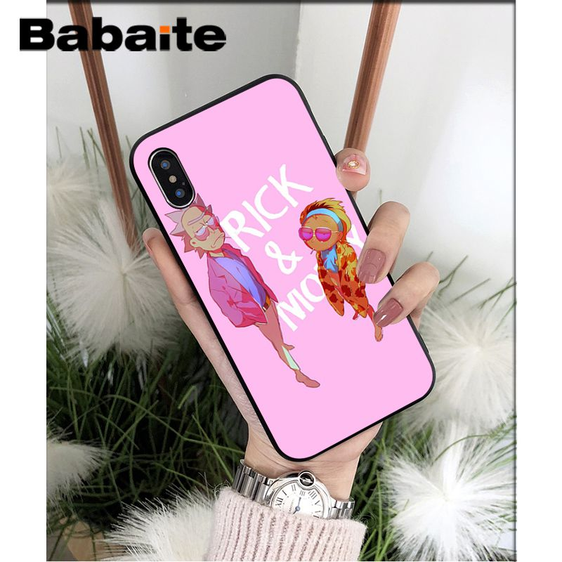 Family Love Rick and Morty Custom Photo Soft Phone Case for iPhone 8 7 6 6S Plus 5 5S SE XR X XS MAX Coque Shell