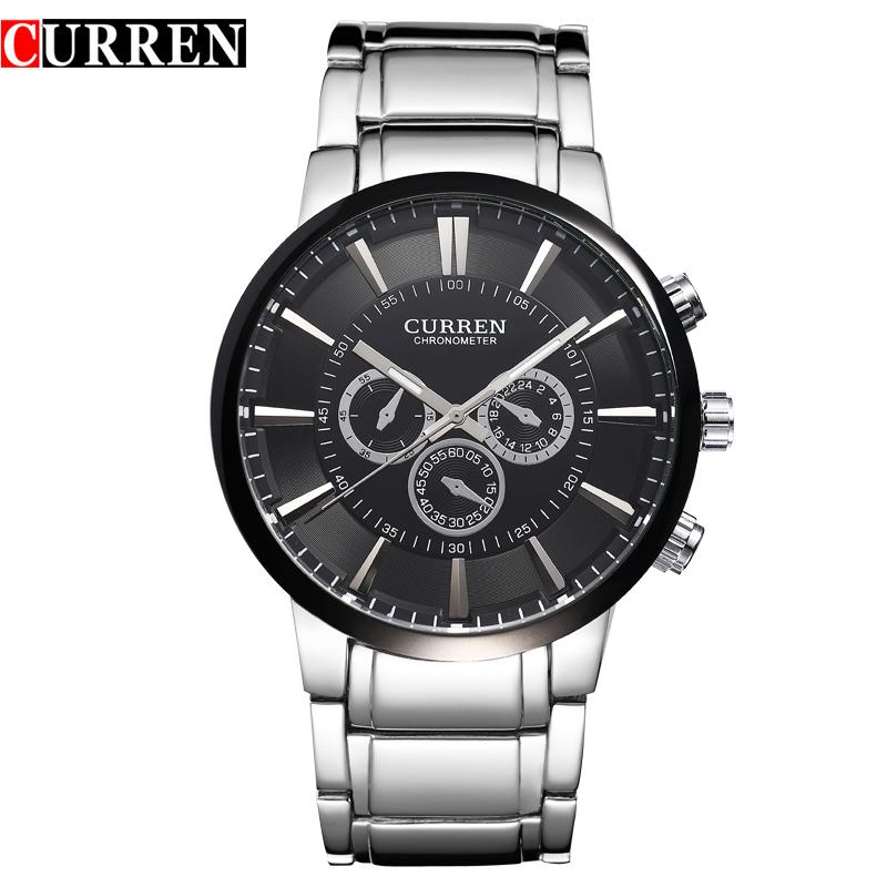 Prix pour Curren relogios masculinos 2017 de luxe marque montre hommes de mode montre à quartz d'affaires décontractée montre-bracelet montre sport poignet 8001