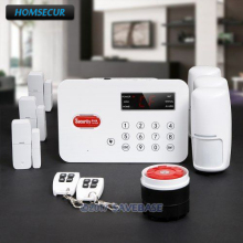 HOMSECUR Wireless Landline PSTN Home Security Alarm System With Voice Record touch Keypad