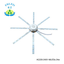 FRLED LED Light board Celling Lamp Tube Energy Saving Lamp 5730SMD 48leds 24w High Bright White Octopus Board Round lamp